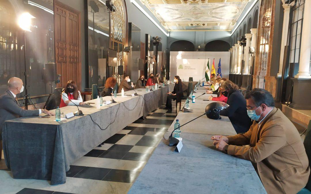 Reunión del CERMI Andalucía con el presidente de la Junta de Andalucía