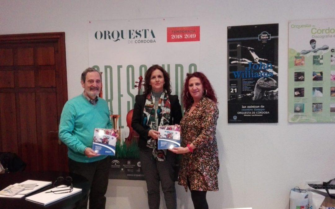 Visita a la Gerente de la Orquesta de Córdoba