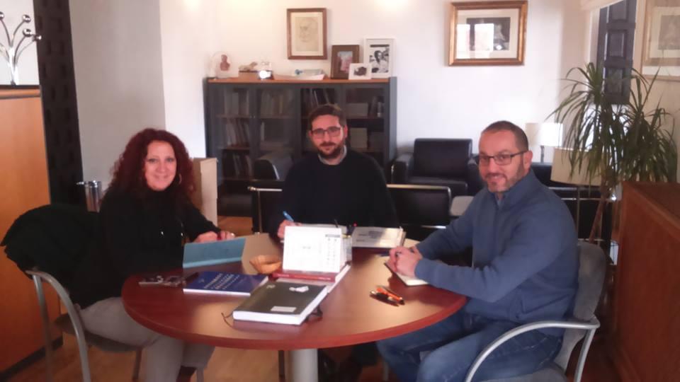 Reunión con el Delegado de Cultura y Patrimonio Histórico  del Ayuntamiento de Córdoba