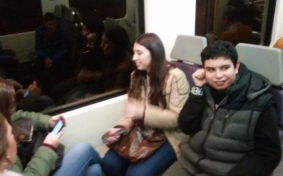 Viajamos en tren en el Taller de Autonomía Social
