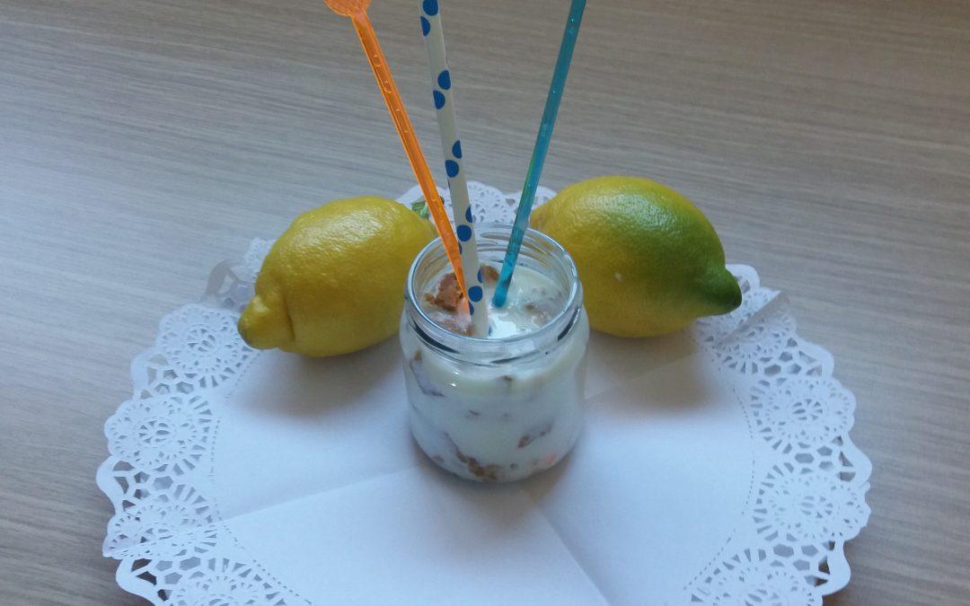 Refrescante sorbete de limón