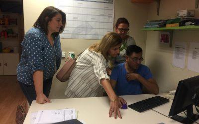 Visita de La Delegada Territorial de Salud y Familias de la Junta de Andalucía