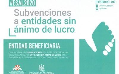 Subvención IMDEEC 2020 –ESAL 2020