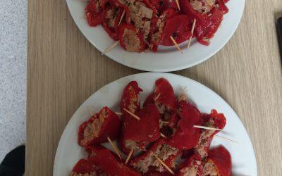 pimientos de piquillo con atún