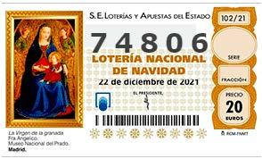 Lotería Navidad Acpacys 2021