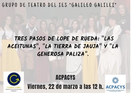 Actuación del Grupo de teatro del IES Galileo Galilei