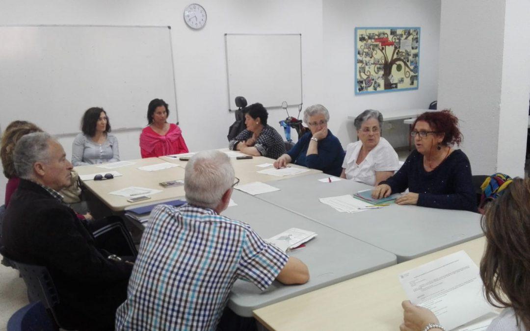 Acpacys en la reunión de seguimiento de talleres de Servicios Sociales Municipales Centro Cívico Moreras