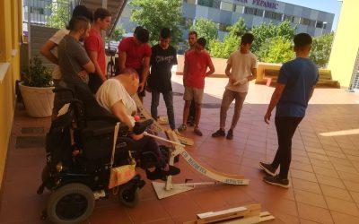 Exhibición de BSR y Boccia para alumnos de Teco