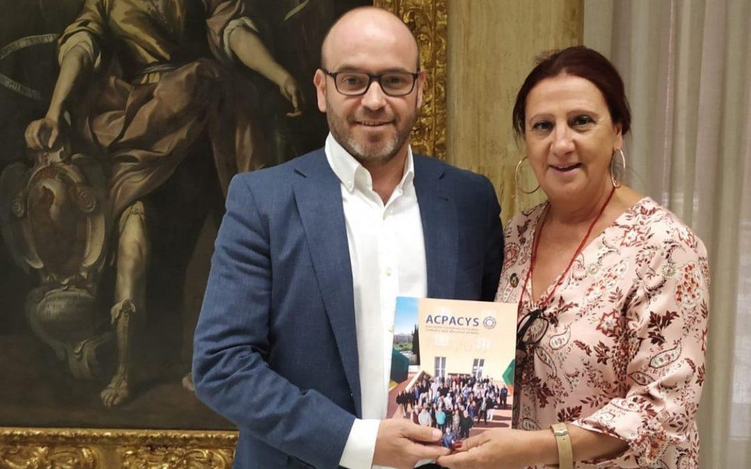 La presidenta de Acpacys se reúne con el Delegado de Inclusión, Accesibilidad y RRHH del Ayuntamiento de Córdoba