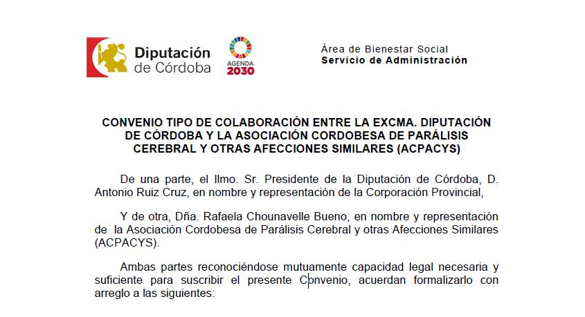 Firma Convenio Deportivo Diputación Córdoba